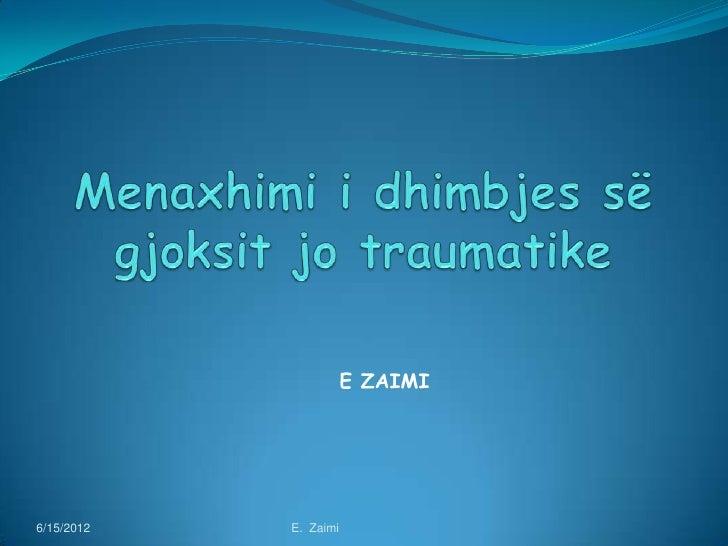 E ZAIMI6/15/2012   E. Zaimi
