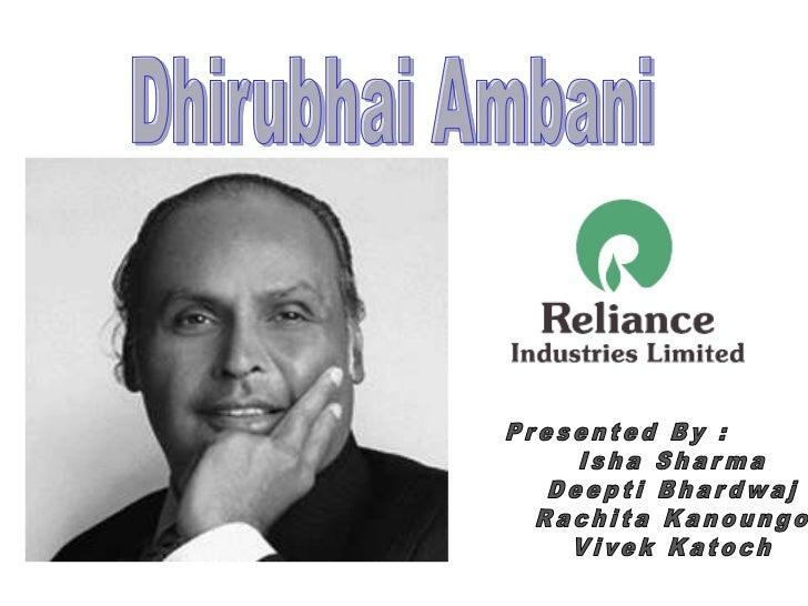essay on my role model dhirubhai ambani