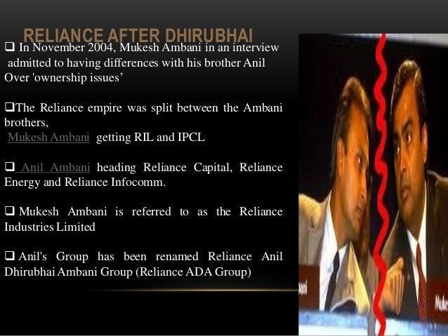 dhirubhai ambani and reliance leadership The bear cartel bought shares of reliance from the market at higher price levels and it also learnt that dhirubhai himself supplied those shares to the bear cartel and earned a healthy.