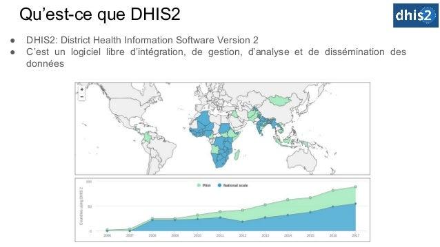 Qu'est-ce que DHIS2 ● DHIS2: District Health Information Software Version 2 ● C'est un logiciel libre d'intégration, de ge...