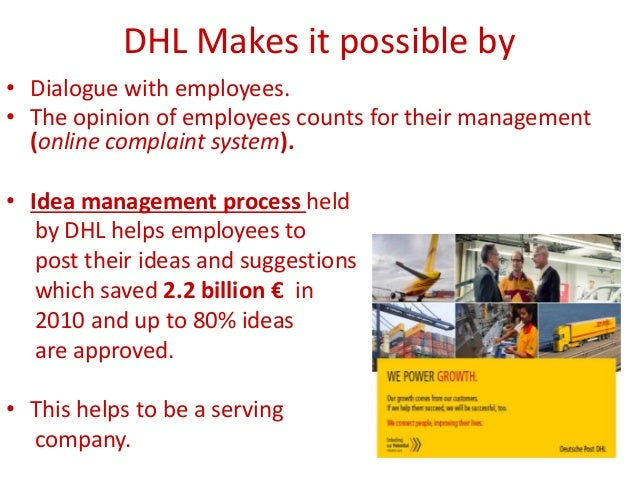 dhl logistics project report Because one missed deadline can jeopardize an entire project, we've made  project management a core discipline and key differentiator.