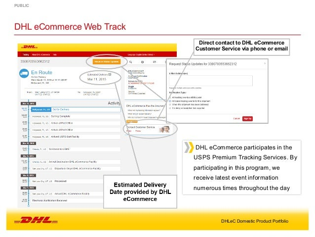 Dhl Customer Service Phone Number >> Dhl Ecommerce Domestic Product Portfolio