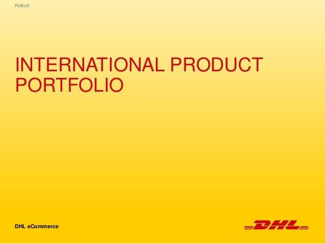 Dhl Ecommerce International Product Portfolio