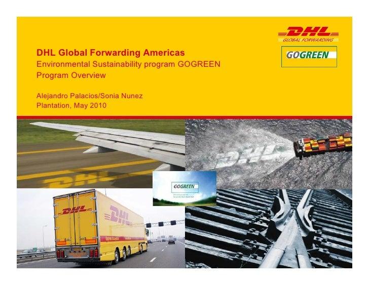 DHL Global Forwarding Americas Environmental Sustainability program GOGREEN Program Overview  Alejandro Palacios/Sonia Nun...
