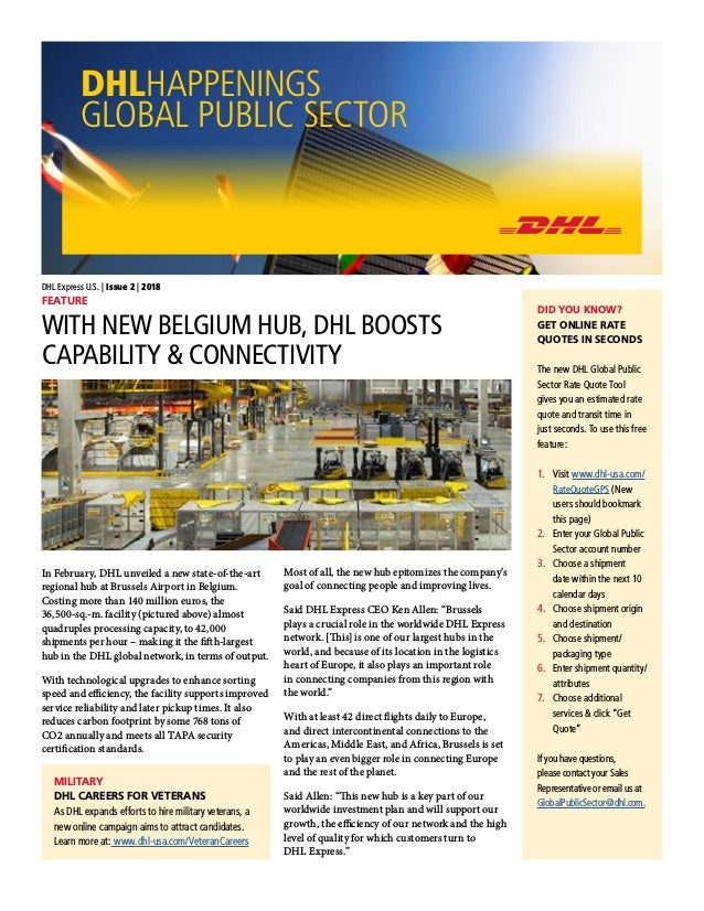 Dhl Quote Impressive DHL Happenings Global Public Sector Issue 48 48018