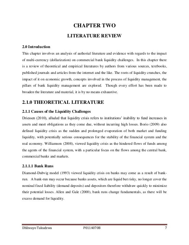literature review on the liquidity management of commercial banks in cameroon Research / topic ideas  liquidity management and commercial banks  list are the economic importance of commercial bank literature review in kaine agary.