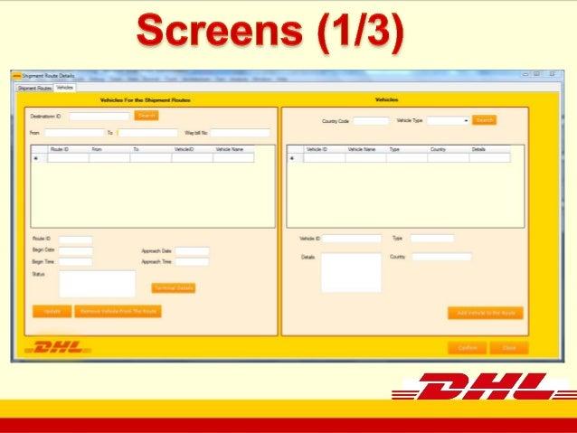 Courier Management System(Dhl software documentation)
