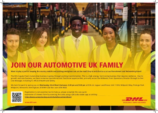 DHL Supply Chain UK Automotive recruitment and networking event