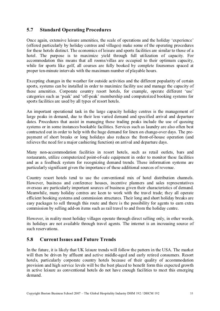globalization in the hospitality industry Abstract of the article: the first section of this article will deal with brief of globalization and tourism or and hospitality industry and the re.