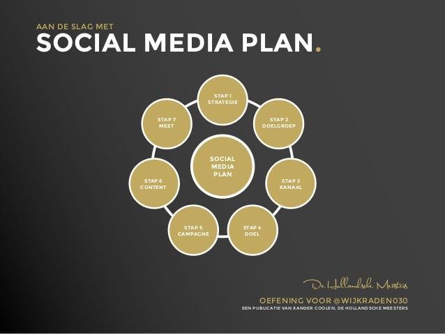 AAN DE SLAG MET  SOCIAL MEDIA PLAN. STAP 1 STRATEGIE STAP 7 MEET  STAP 2 DOELGROEP  SOCIAL MEDIA PLAN  STAP 6 CONTENT  STA...