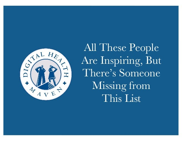 All These People  Are Inspiring, But  There's Someone  Missing from  This List