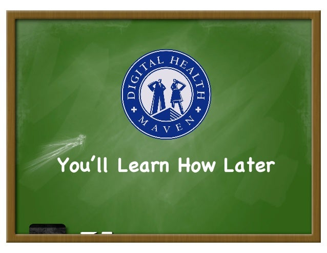 You'll Learn How Later