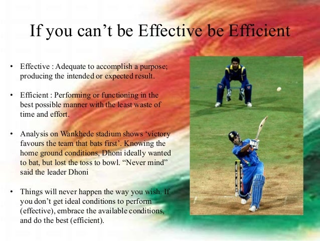 Leadership lessons from Dhoni Slide 2