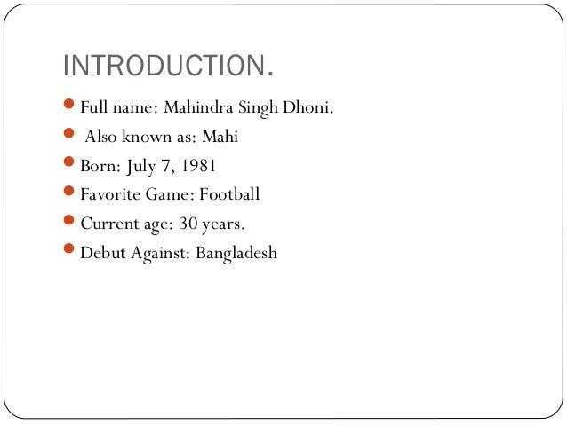 Dhoni A Leader Slide 2