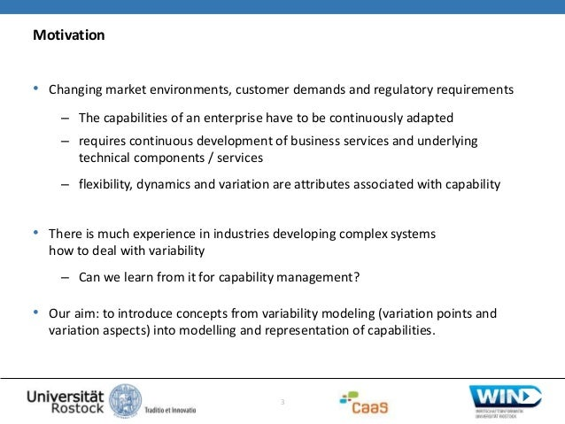2014 Asdenca - On the applicability of concepts from variability modelling in capability modelling, experiences from a case in business process outsourcing Slide 3