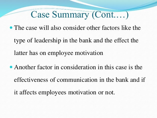 case study on motivation and leadership Learningedge at mit sloan offers case studies on topics such as ethics and leadership learn more about these contemporary business issues.