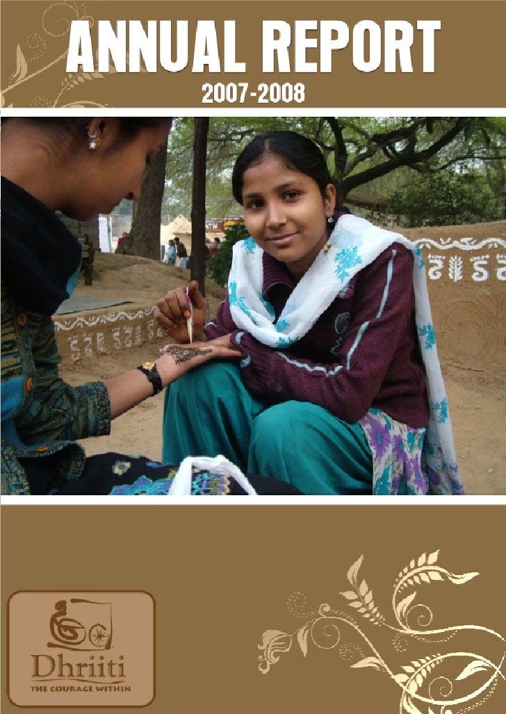 Dhriiti Annual Report 2007 08
