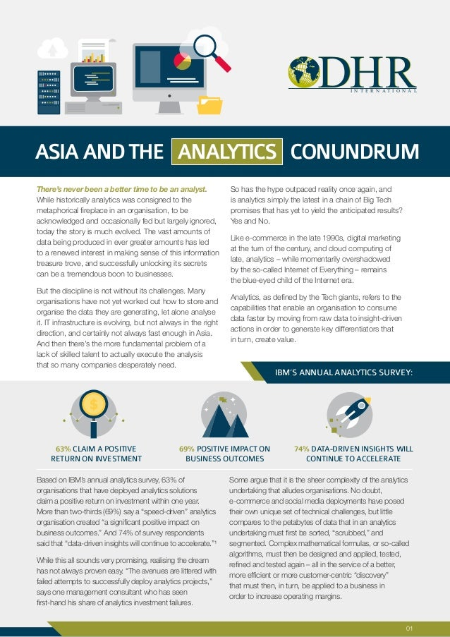 There's never been a better time to be an analyst. While historically analytics was consigned to the metaphorical fireplac...