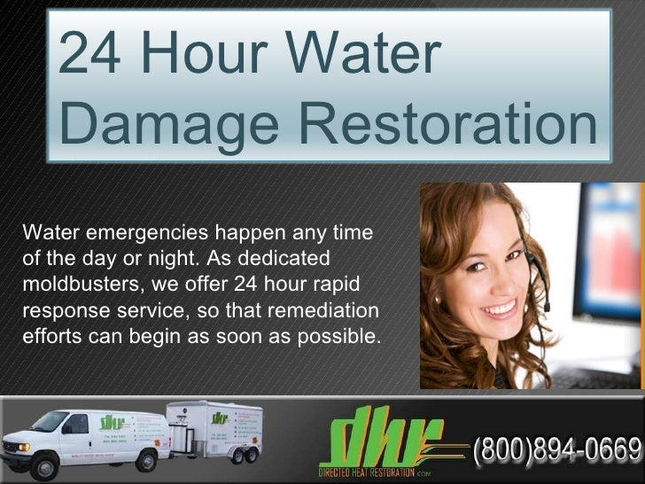 Water emergencies happen any time of the day or night. As dedicated moldbusters, we offer 24 hour rapid response service, ...