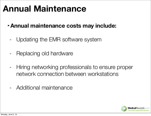 electronic medical record implementation costs and Timeline for electronic medical record implementation,  electronic medical administration record,  after emr implementation in 2009/2010, costs were recovered.