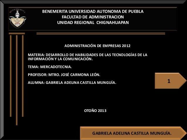 BENEMERITA UNIVERSIDAD AUTONOMA DE PUEBLA FACULTAD DE ADMINISTRACION UNIDAD REGIONAL CHIGNAHUAPAN  ADMINISTRACIÓN DE EMPRE...