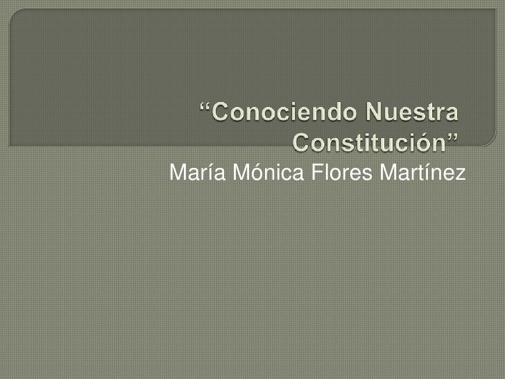 María Mónica Flores Martínez