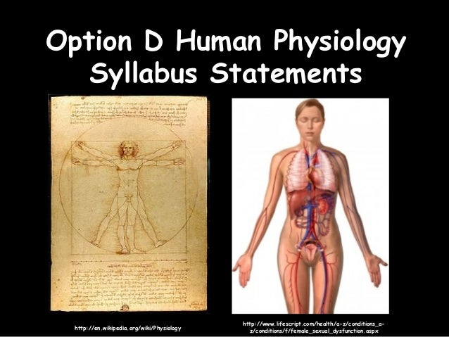 D Human Physiology Syllabus Statements