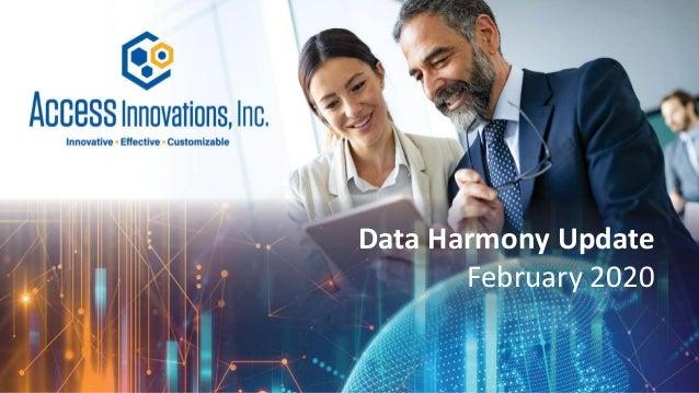 Data Harmony Update February 2020