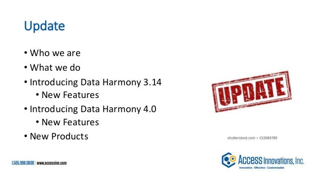 Data Harmony update 2020 final Slide 2