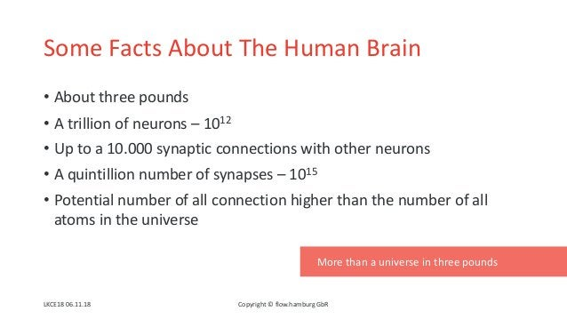 Some Facts About The Human Brain • About three pounds • A trillion of neurons – 1012 • Up to a 10.000 synaptic connections...