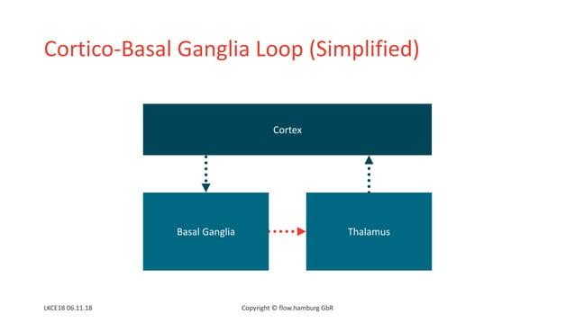 Cortico-Basal Ganglia Loop (Simplified) Cortex Basal Ganglia Thalamus Copyright © flow.hamburg GbRLKCE18 06.11.18
