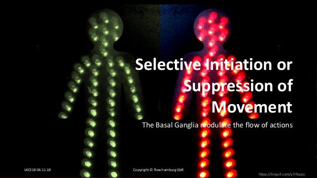 The Basal Ganglia modulate the flow of actions https://tinyurl.com/y7rfocao Selective Initiation or Suppression of Movemen...