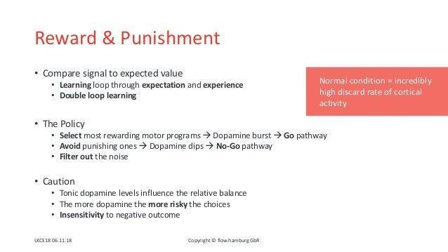 Reward & Punishment • Compare signal to expected value • Learning loop through expectation and experience • Double loop le...
