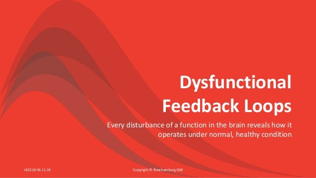 Dysfunctional Feedback Loops Every disturbance of a function in the brain reveals how it operates under normal, healthy co...