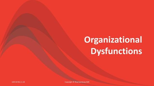 Organizational Dysfunctions Copyright © flow.hamburg GbRLKCE18 06.11.18