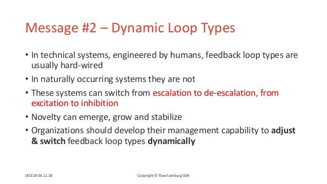 Message #2 – Dynamic Loop Types • In technical systems, engineered by humans, feedback loop types are usually hard-wired •...