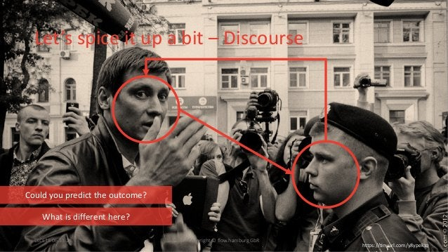 Let's spice it up a bit – Discourse LKCE18 06.11.18 Copyright © flow.hamburg GbR https://tinyurl.com/y8ypektq What is diff...