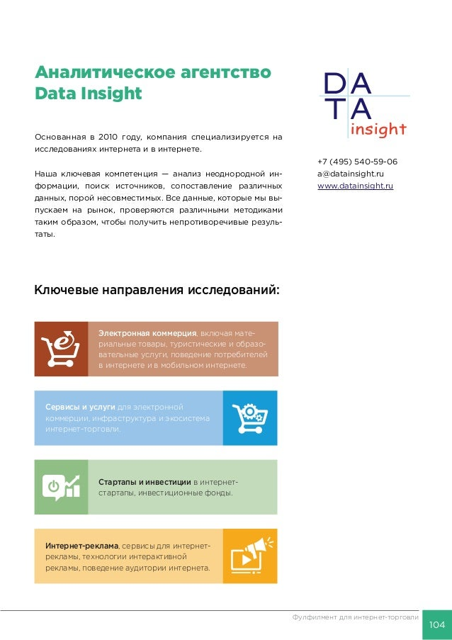 "Data Insight: ""Фулфилмент для интернет-торговли""."