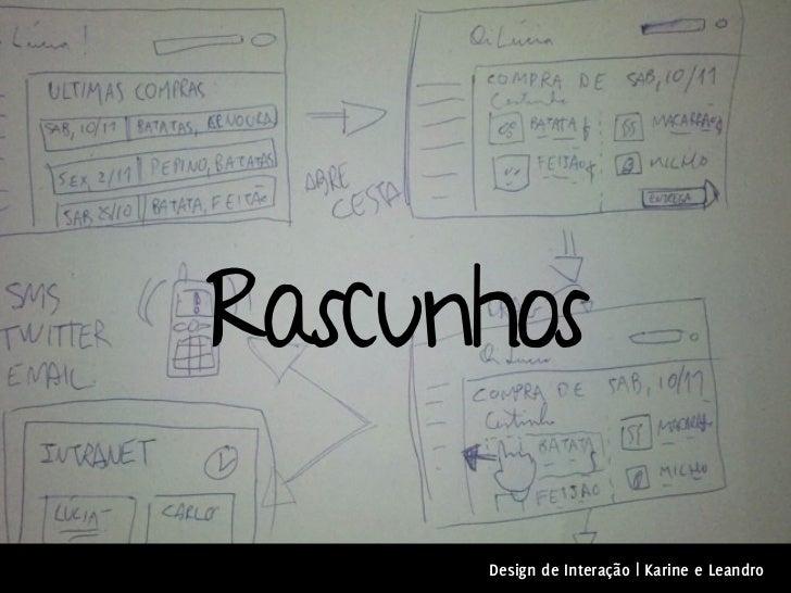 Rascunhos      Design de Interação | Karine e Leandro
