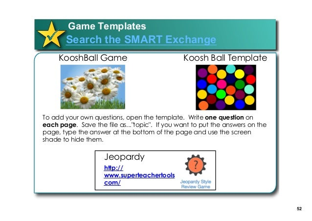 51 Lunch 52 Game Templates