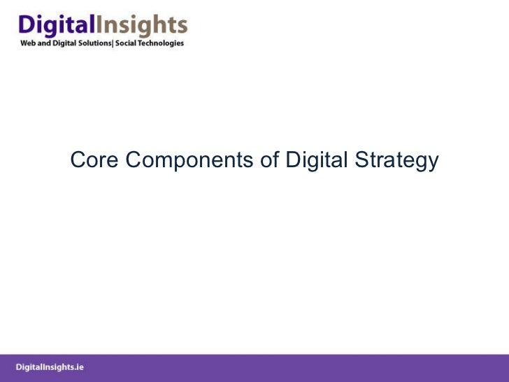 Core Components of Digital Strategy