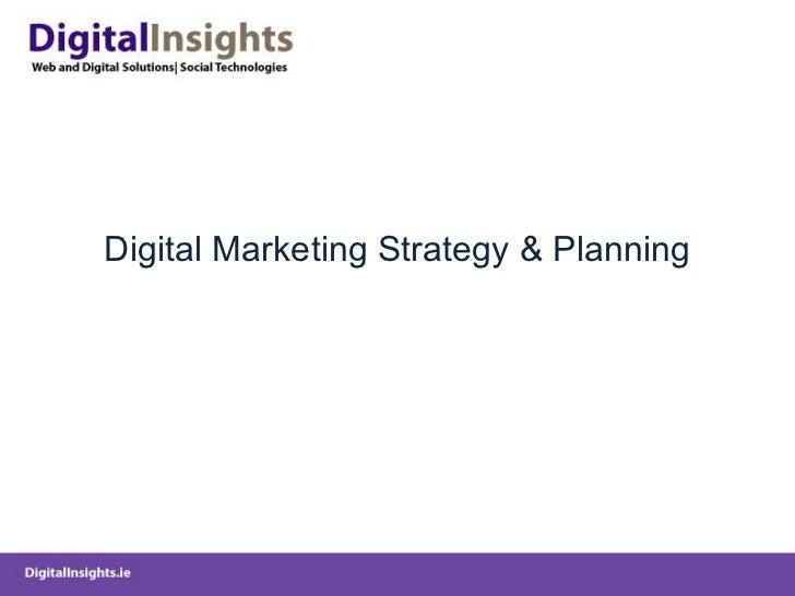 Digital Marketing Strategy & Planning