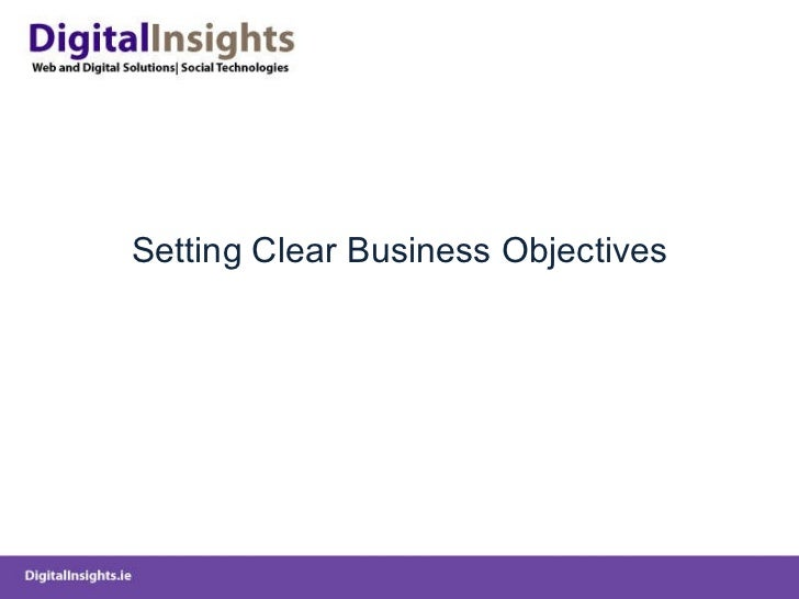 Setting Clear Business Objectives