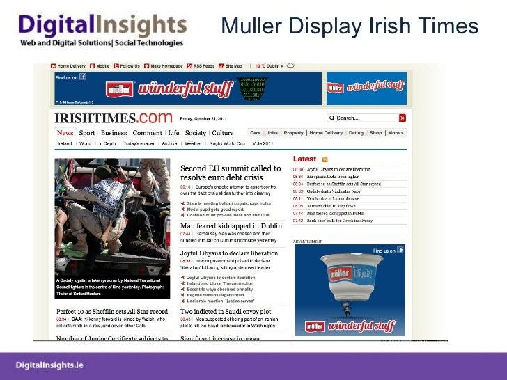 Muller Display Irish Times