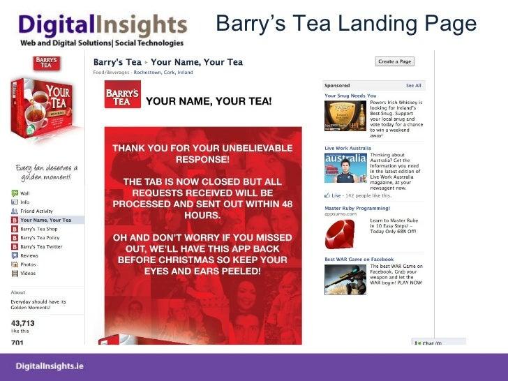 Barry 's Tea Landing Page