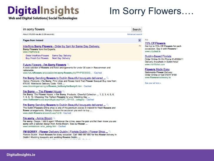 Im Sorry Flowers….