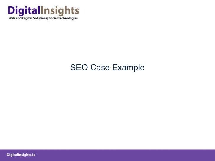 SEO Case Example