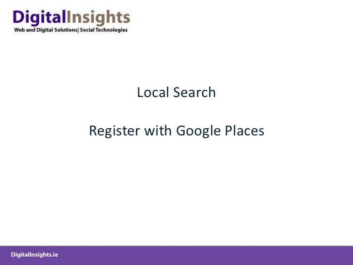 Local Search Register with Google Places