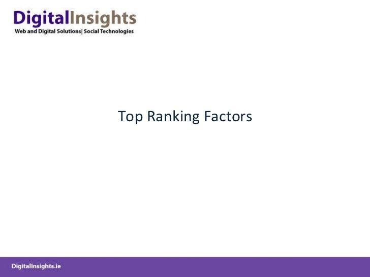 Top Ranking Factors