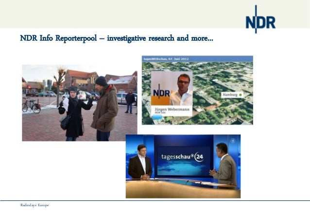 NDR Info Reporterpool – investigative research and more...Radiodays Europe
